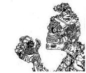 robot, gothic drawings