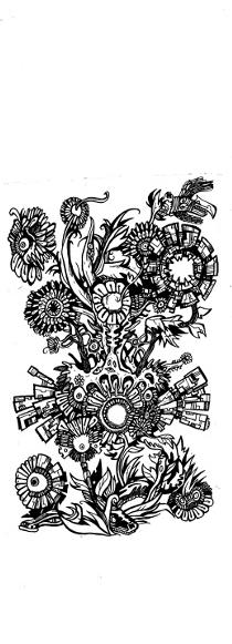 gothic drawings,flowers