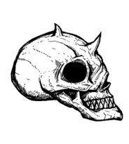 surreal comics skull drawings