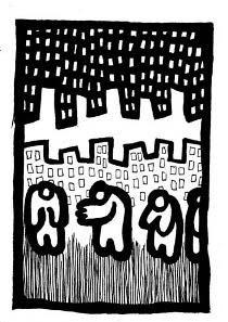 existential art,simple, ink drawings