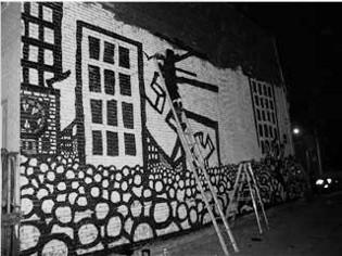 outdoor wall murals, comic book drawings