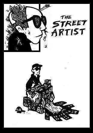 street art comics, comic book characters