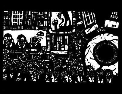 surrealism art, dark drawing
