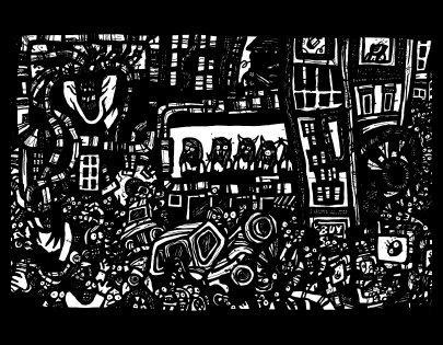 surrealism art, comic book drawings