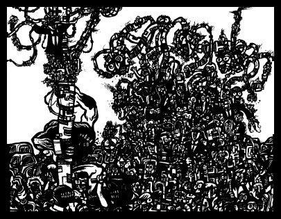 surrealism art, doodle,comic book drawings