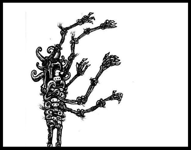 dark drawings,gothic man