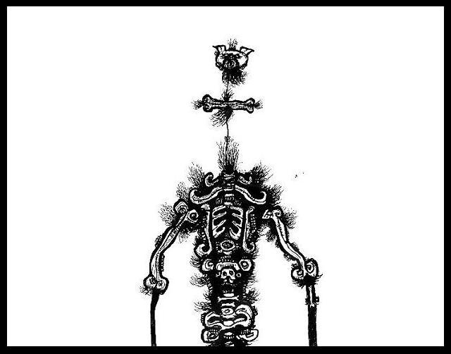 dark drawings,gothic pig
