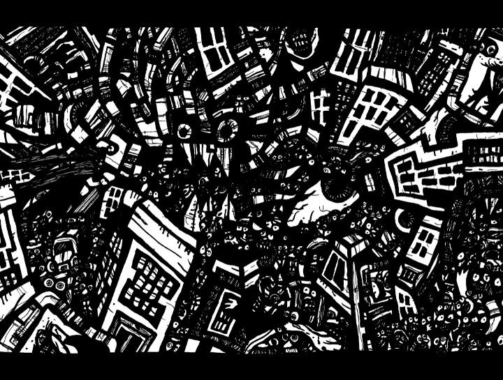 art doodle, ink drawings