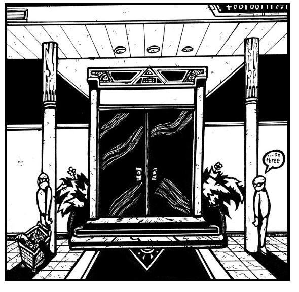 black white comic, graphic novels, comic online, underground,bank,money,superheroes,weird,horror,surreal art,pen and ink, drawings, illustrations