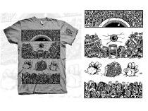 black and white art, comic book shirts
