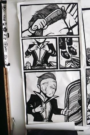 cartoon drawings, narcissist