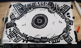 cartoon drawings, one eyed monster