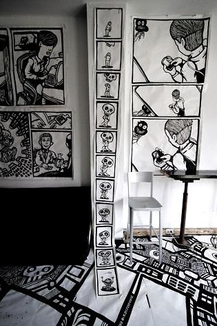 cartoon drawings, skull art
