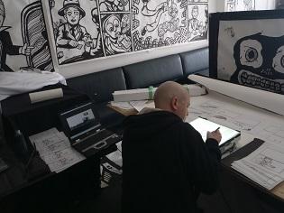 cartoon murals,comics artist