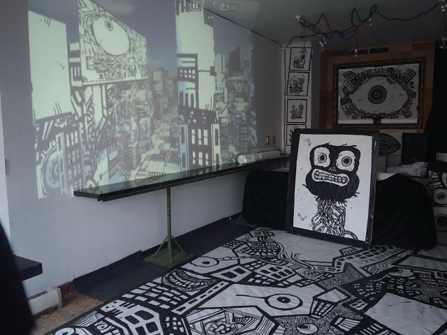 cartoon murals, videogame art