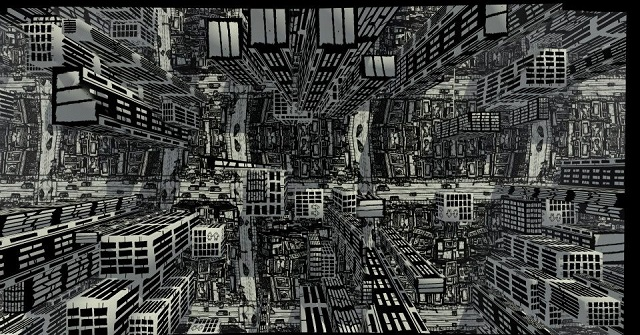 cg artwork the virtual metropolis