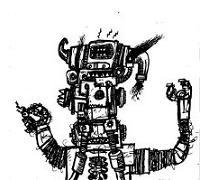 comic book drawings, robot monster