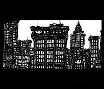 comic book drawings, pen and ink artwork, New York