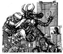comic book drawings, manga monsters