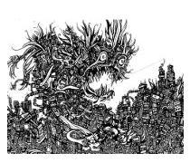 comic book drawings, pen artwork