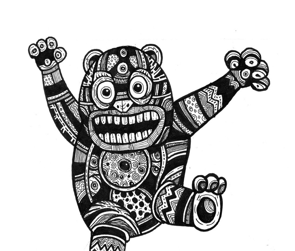 comic book drawings, cute monsters