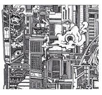 comic book drawings, line art