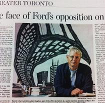 Mike Parsons, Comic murals, Toronto Star