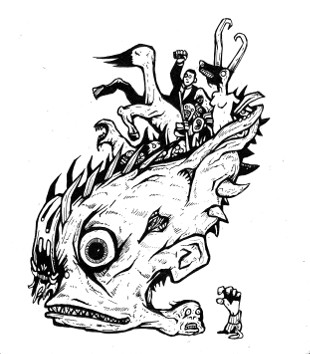 creepy drawings