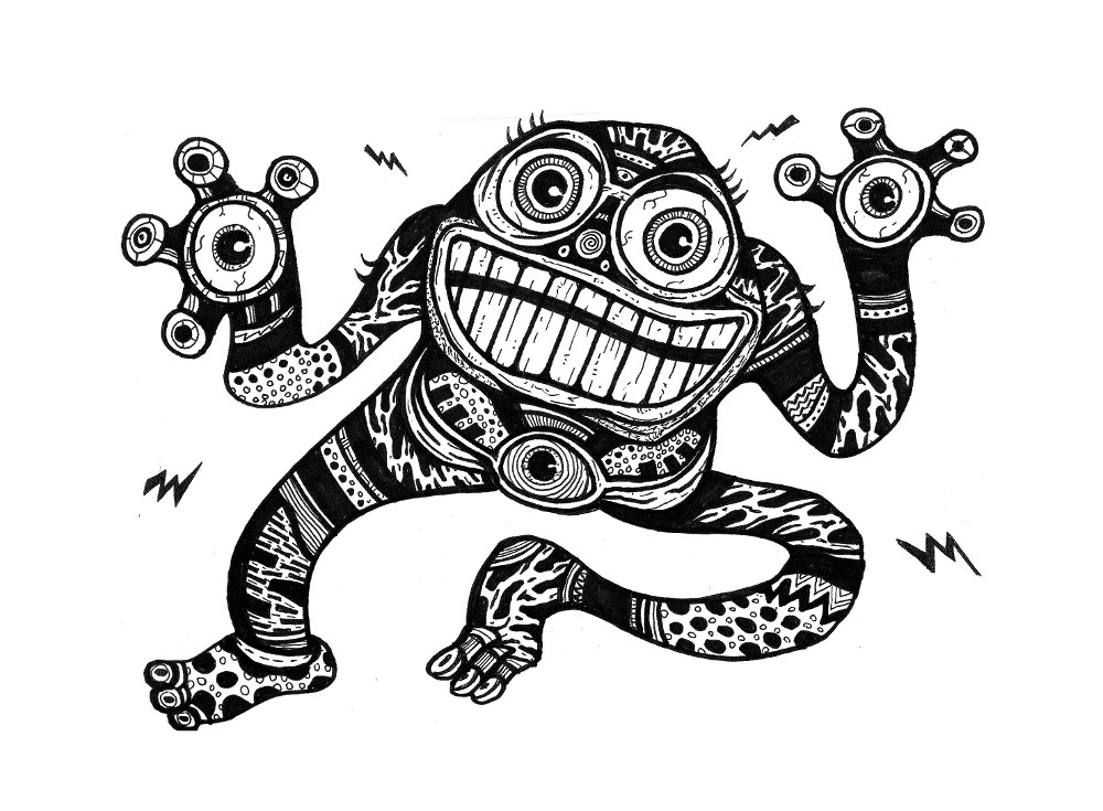 Cute Monsters, Japanese Drawings
