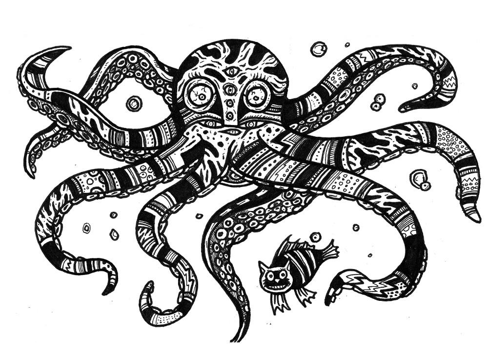Cute Monsters, Japanese Drawings