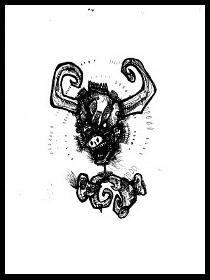 dark drawings,bull