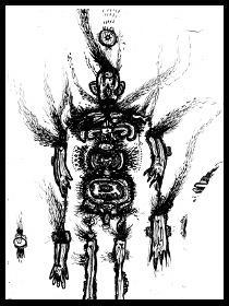 dark drawings,dream catcher
