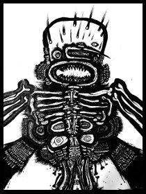 dark drawings,zombie