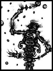 dark drawings,gothic, monster