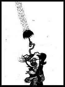 dark drawings,gothic rain,