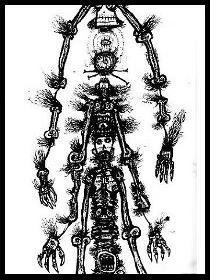 dark drawings,gothic totem