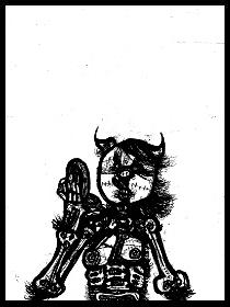 dark drawings,make up