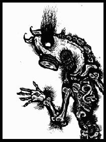 dark drawings,pig man
