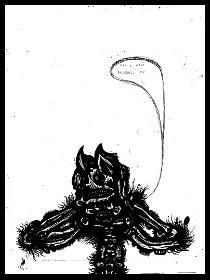 dark drawings,pig mask
