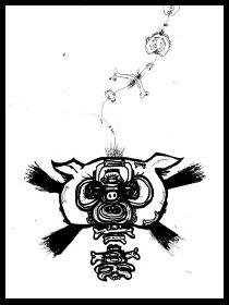 dark drawings,skull,dream