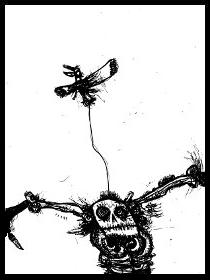 dark drawings,scarecrow
