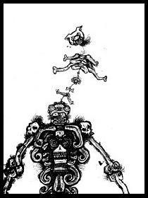 dark drawings,skeleton