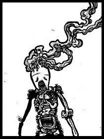 dark drawings,smoking