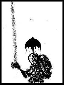 dark drawings,zombie,rain