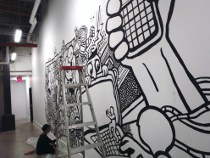 draw graffiti, comic murals