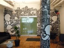 draw graffiti, mural drawings