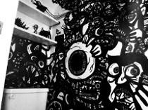 draw graffiti, wall art