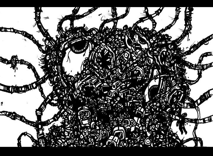 draw monster, city