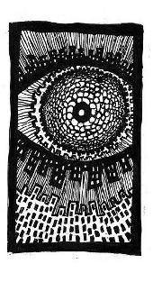 existential art, spiral city, ink drawings