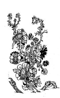 gothic drawings,art,dark,flowers